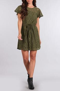 Sweet Wanderer Olive Lace Dress - Product List Image
