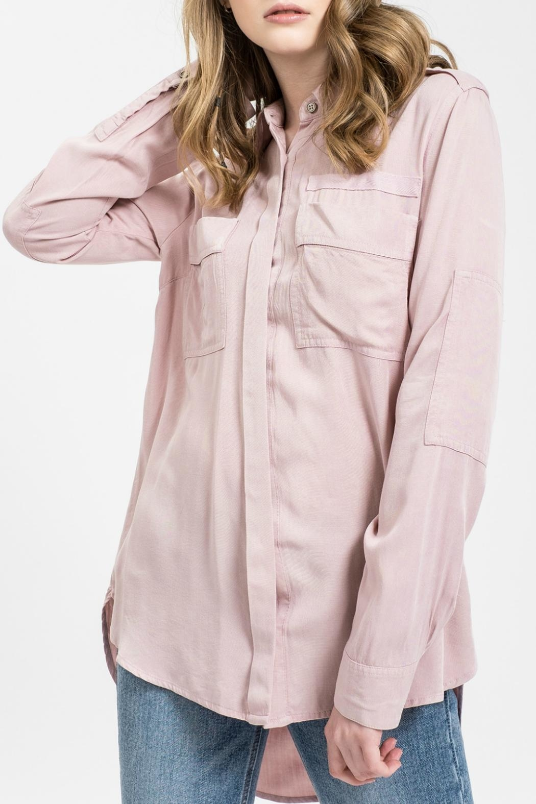 Sweet Wanderer by Blue Pepper Kenni Blush Button Up Top - Main Image
