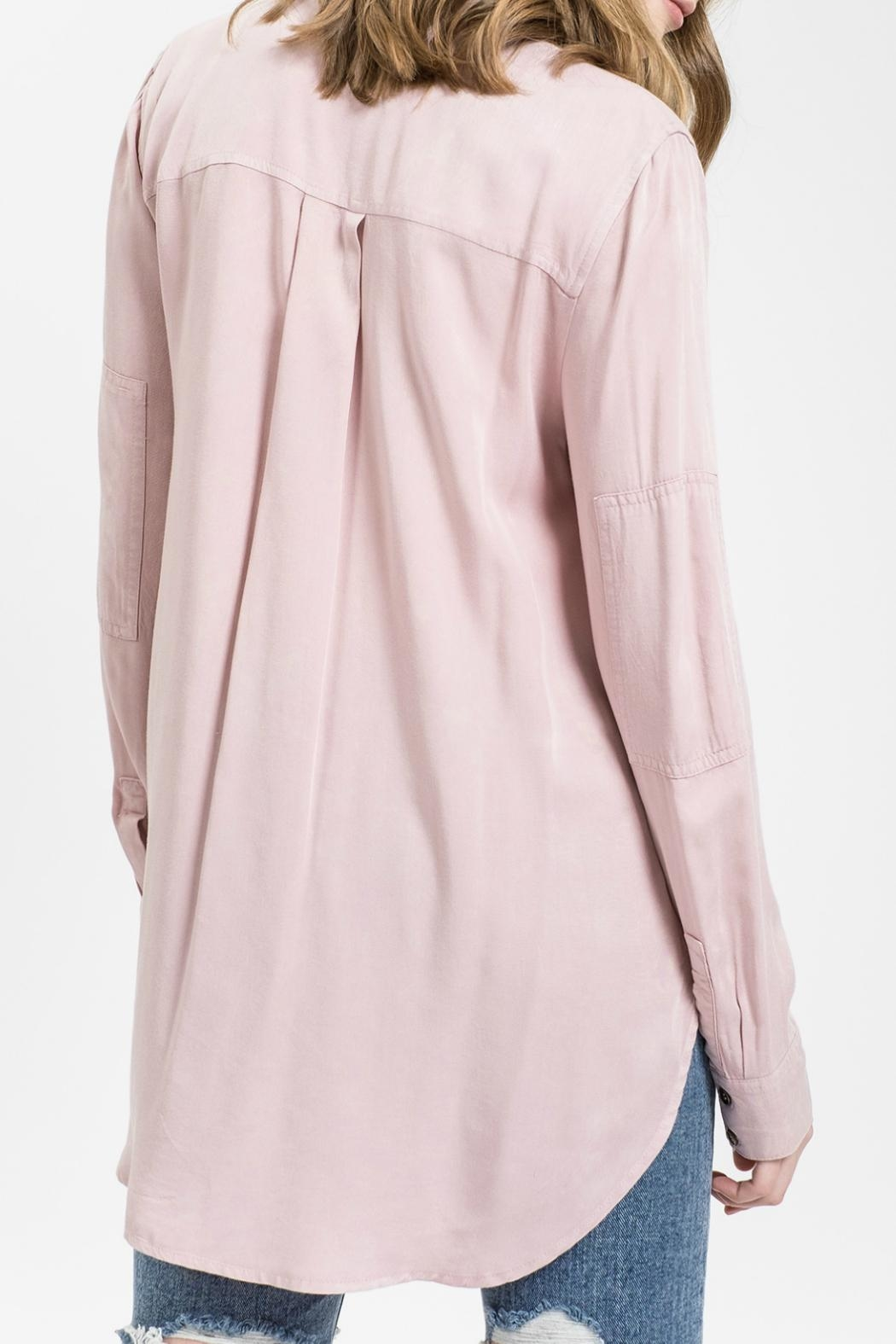 Sweet Wanderer by Blue Pepper Kenni Blush Button Up Top - Front Full Image
