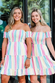 Peach Love Sweeter Than Candy Striped Dress - Product Mini Image