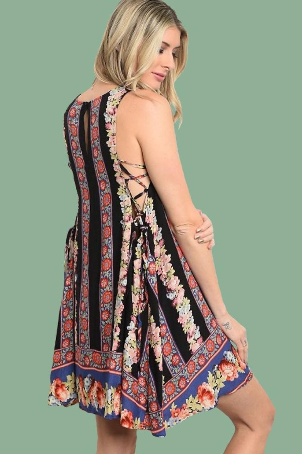 People Outfitter Sweetest Print Dress - Front Full Image