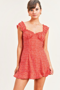 Reset By Jane  Sweetheart Cheetah Dress - Product List Image