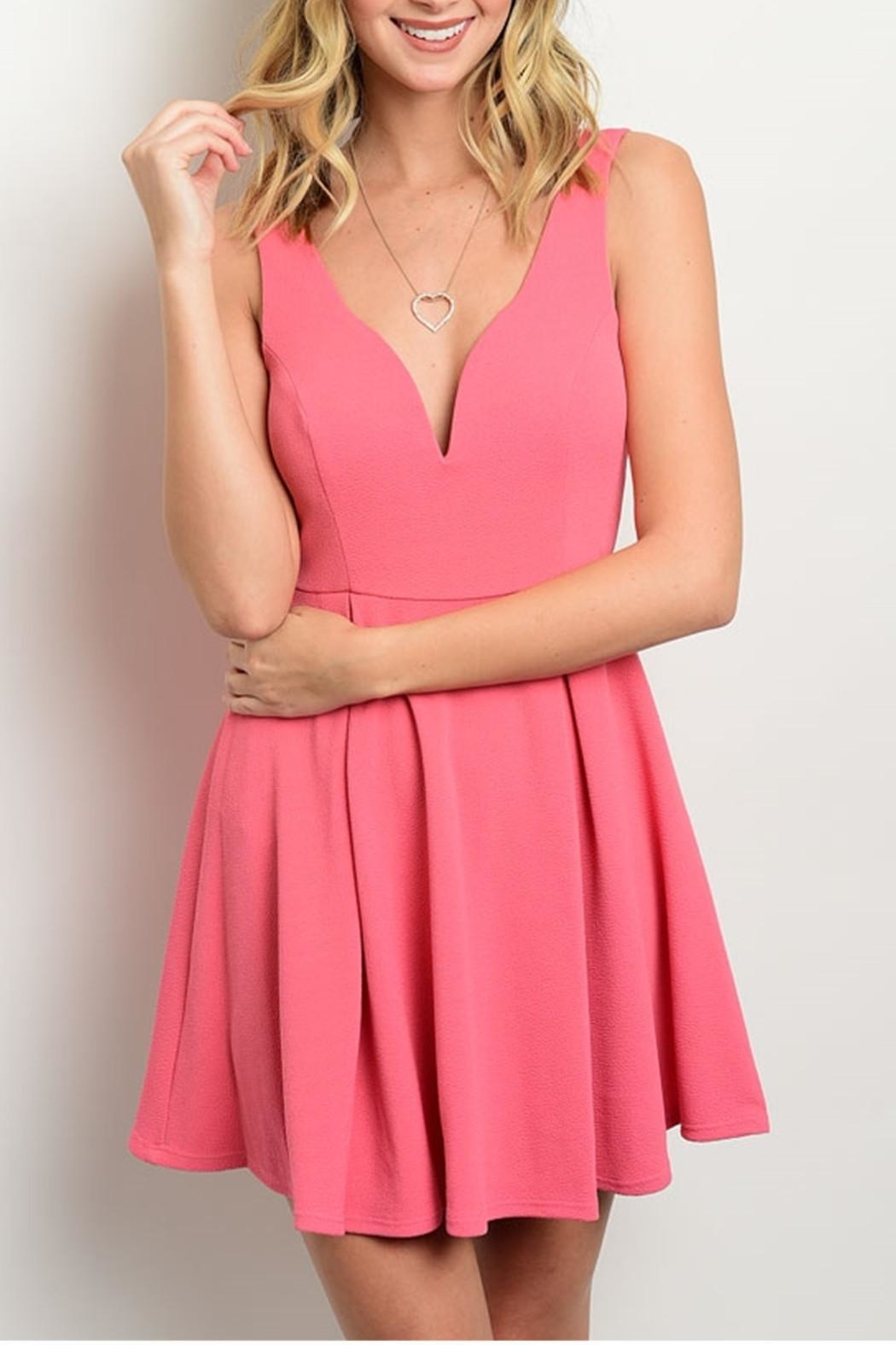 Trac Sweetheart Dress - Front Cropped Image