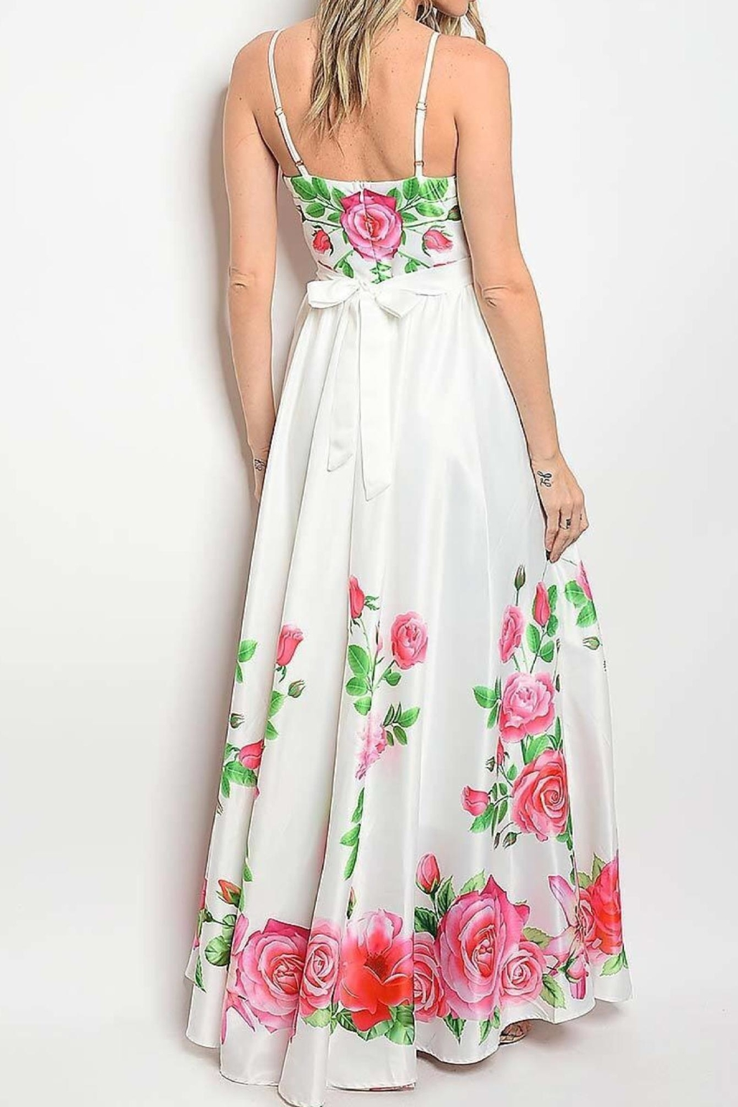 No Label  Sweetheart Floral Maxi - Front Full Image