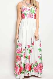 No Label  Sweetheart Floral Maxi - Front cropped