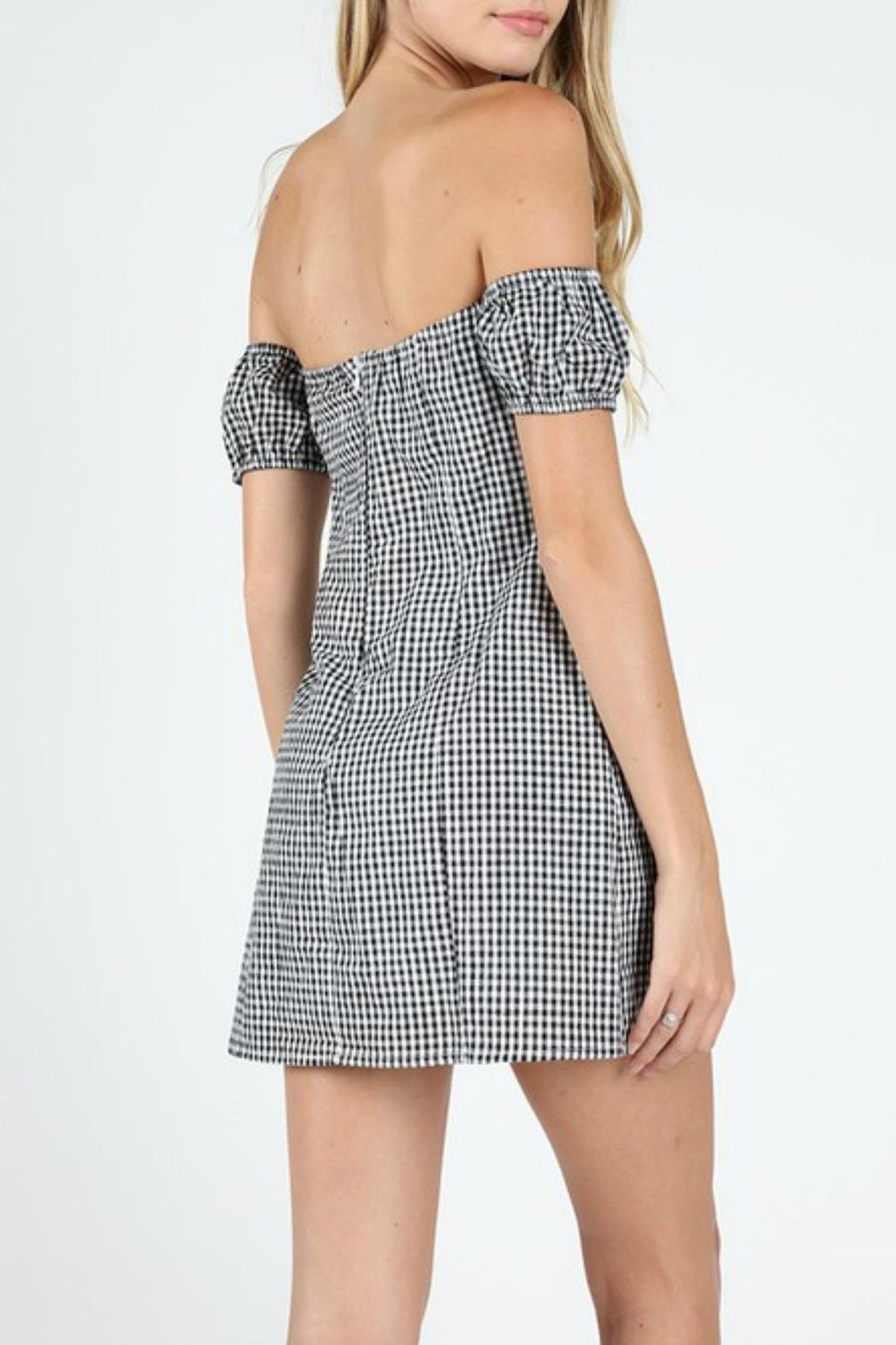 Pretty Little Things Sweetheart Gingham Dress - Front Full Image