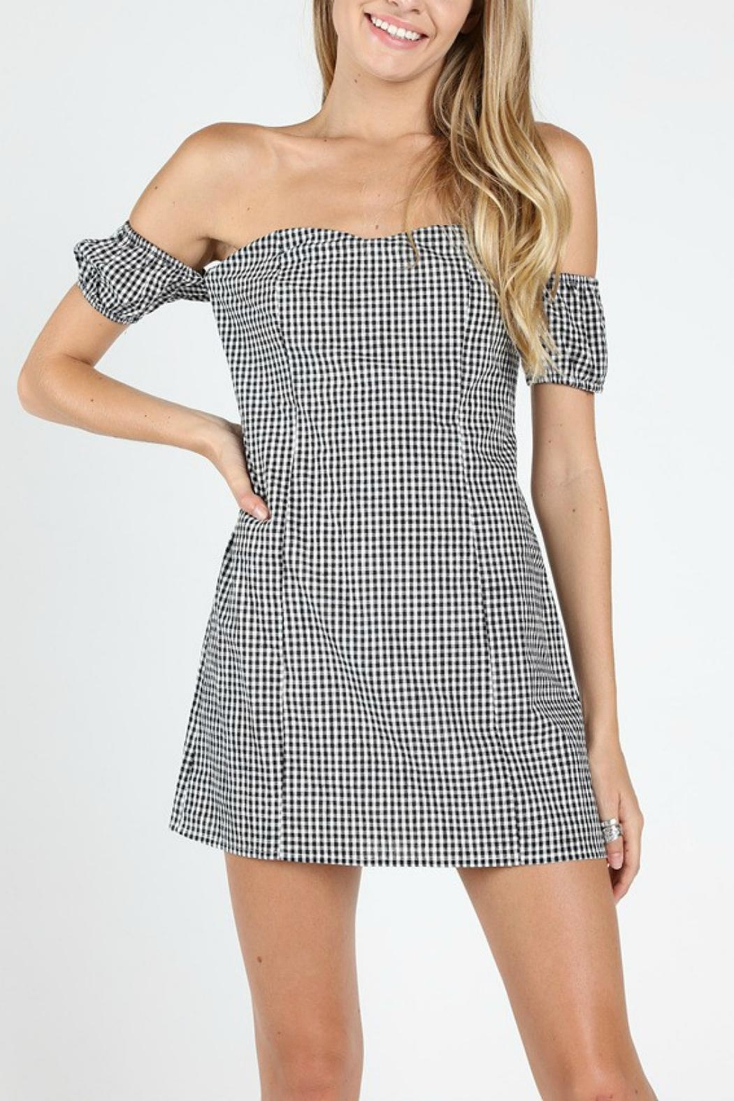 Pretty Little Things Sweetheart Gingham Dress - Main Image