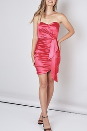 Do & Be Sweetheart Neck Satin Dress - Back cropped