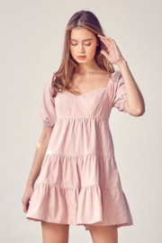 Idem Ditto  Sweetheart Neckline Babydoll Dress - Product Mini Image