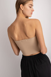 Le Lis Sweetheart Neckline Bandeau - Front full body