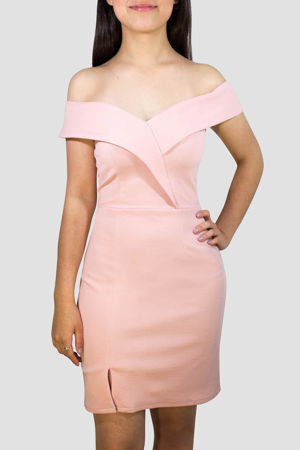 SoZu Sweetheart Neckline Dress - Front Cropped Image