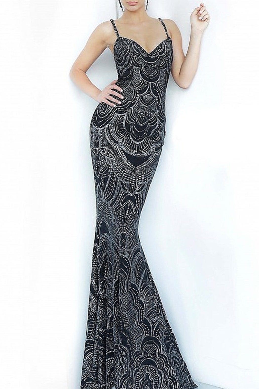 Jovani Sweetheart Neckline Fitted Prom Dress - Main Image