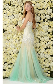 FabuLuxe Sweetheart Neckline Mermaid Long Dress with Bodice and Beaded Spaghetti Strap - Product Mini Image