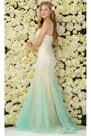 GLS Collective/FabuLuxe Sweetheart Neckline Mermaid Long Dress with Beaded Spaghetti Strap and Bodice - Product Mini Image