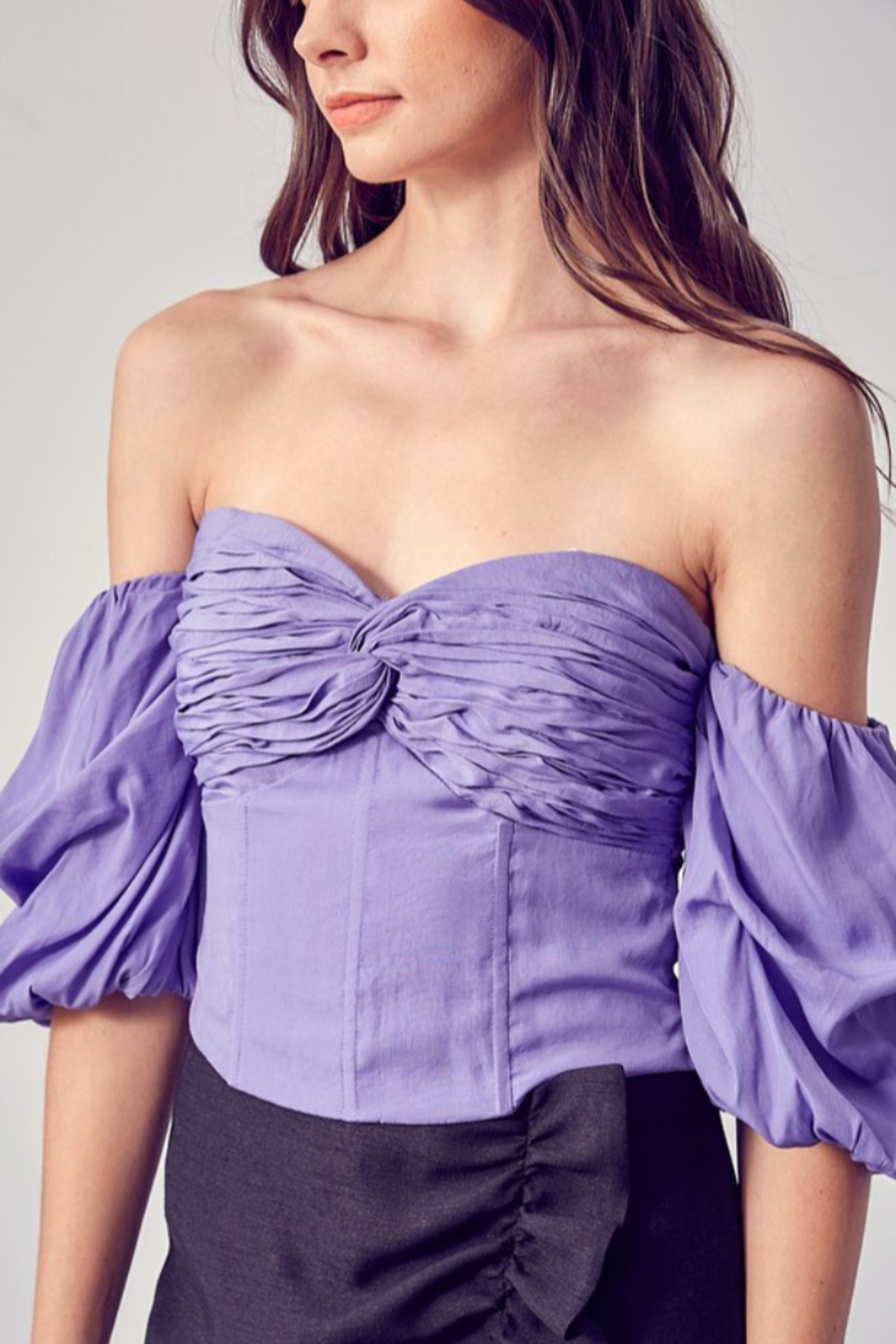 Do + Be  Sweetheart Neckline OTS Top - Front Full Image