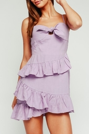 Olivaceous Sweetheart Neckline Ruffle Dress - Product Mini Image
