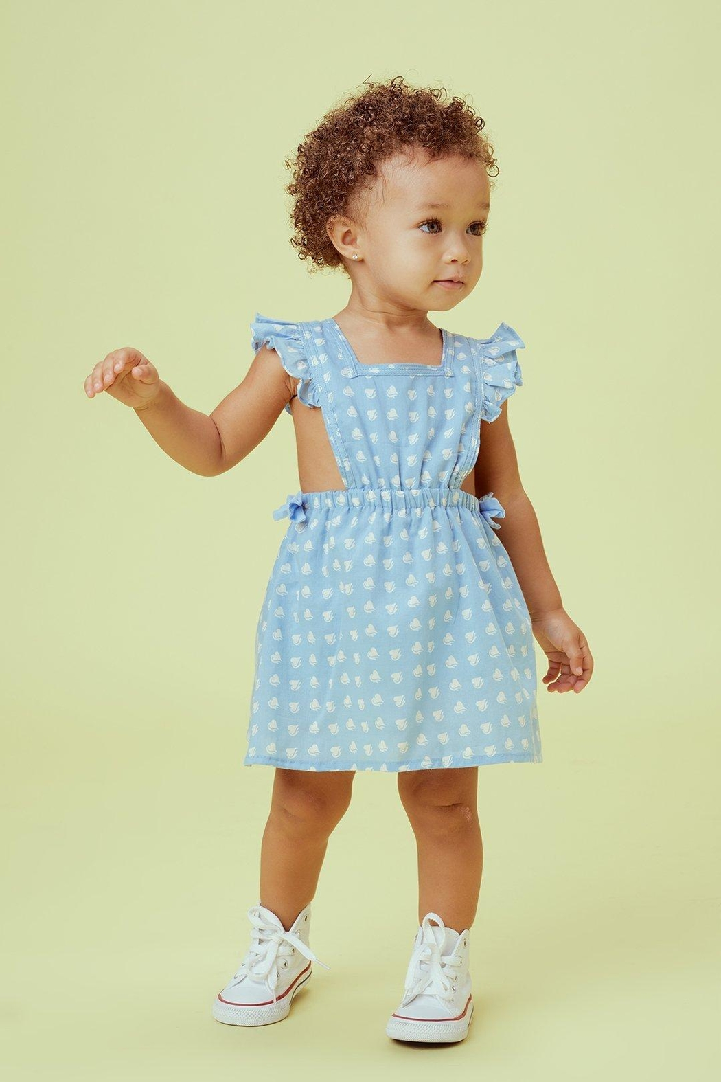 Lil Lemons Sweetheart Pinafore Dress - Front Cropped Image