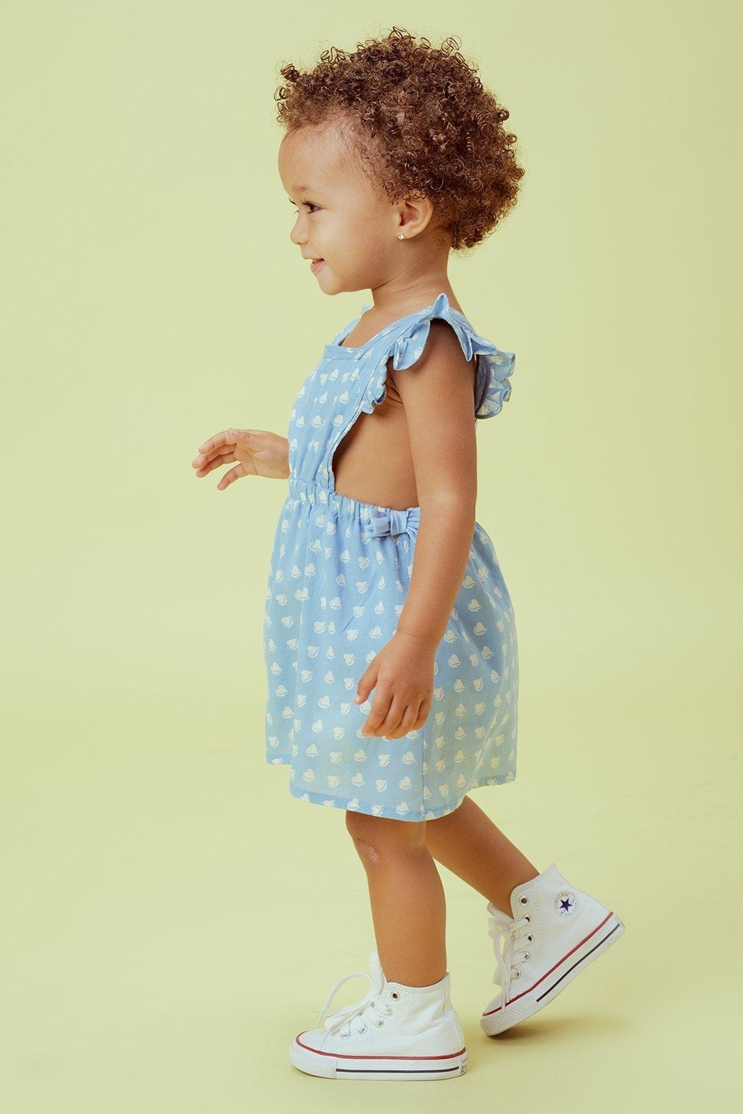 Lil Lemons Sweetheart Pinafore Dress - Side Cropped Image