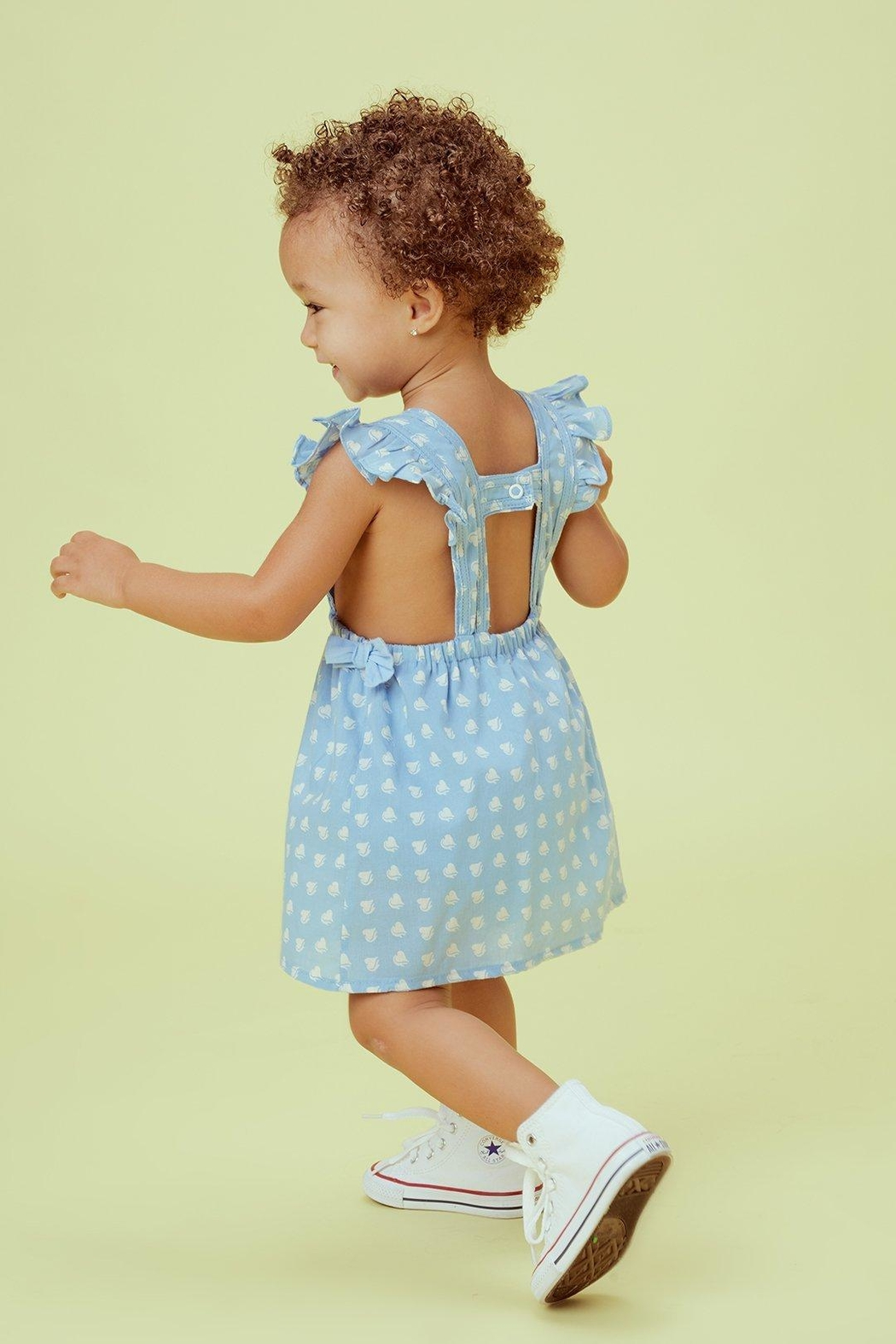 Lil Lemons Sweetheart Pinafore Dress - Front Full Image