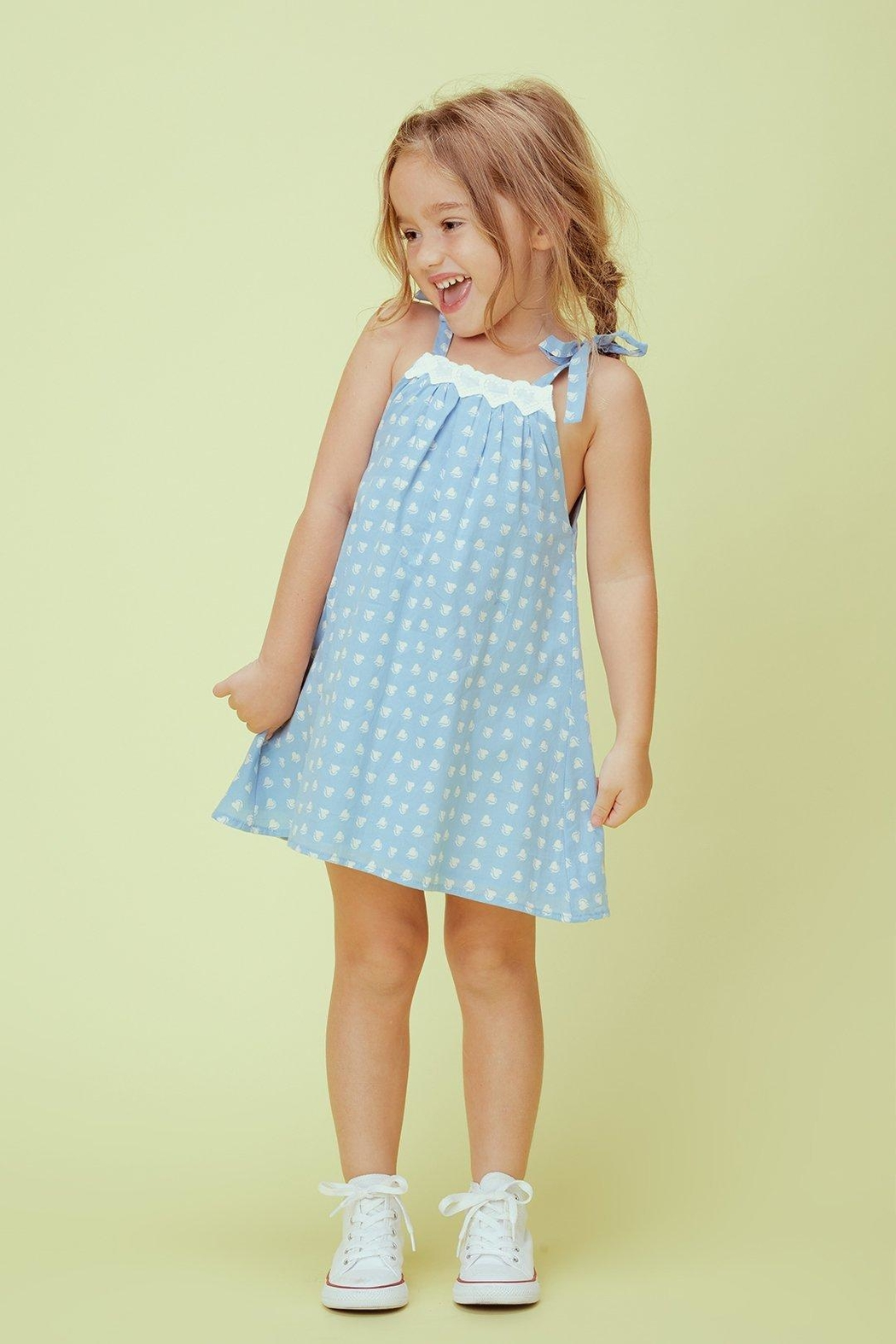 Lil Lemons Sweetheart Tank Dress - Front Cropped Image