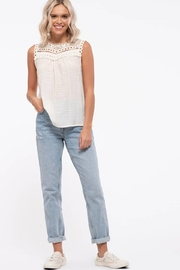 By the River Sweetheart Yoke Lace Top - Product Mini Image