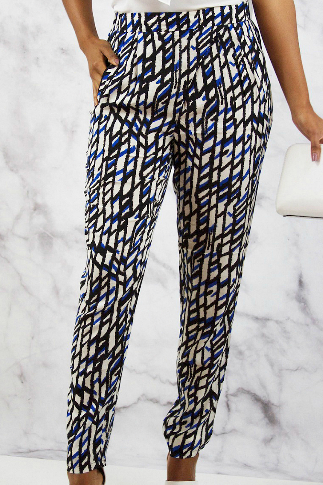 SWEEWE Printed Crepe Pants - Main Image