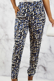 SWEEWE Printed Crepe Pants - Front cropped
