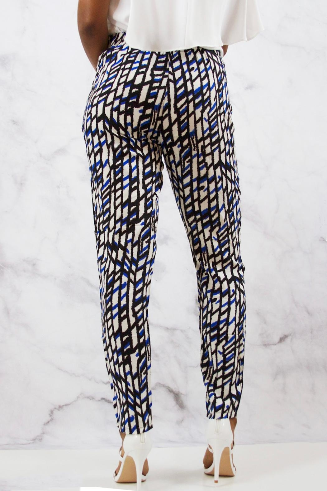 SWEEWE Printed Crepe Pants - Front Full Image
