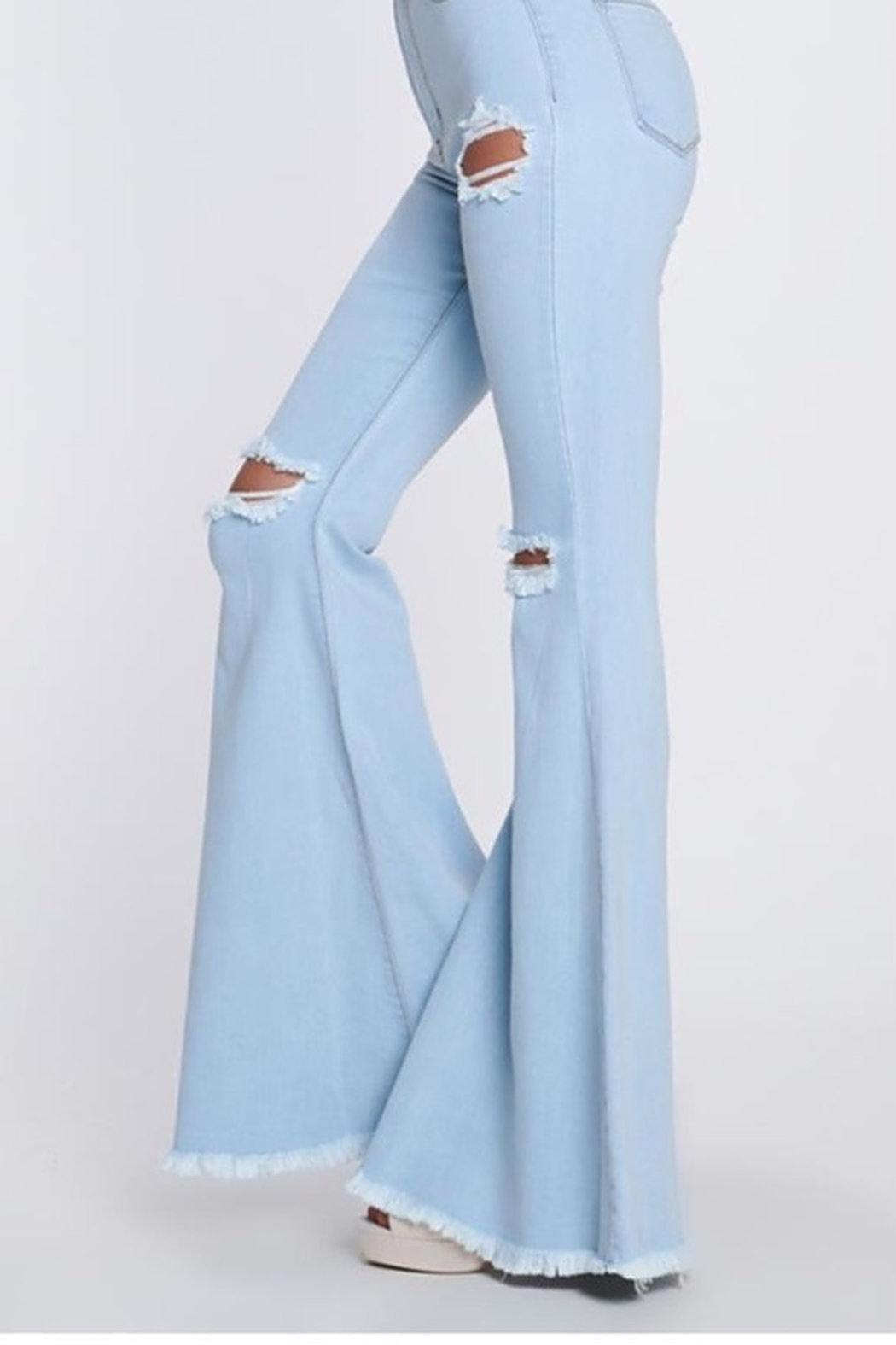 Vibrant MIU Swept Away Flares - Back Cropped Image