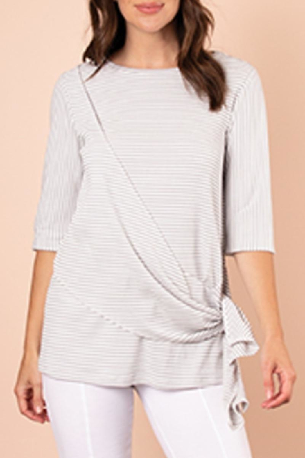 Simply Noelle Swept Away Top - Front Cropped Image