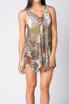 Paradise  Swim suite cover -up/ tunic  with pockets - Alternate List Image