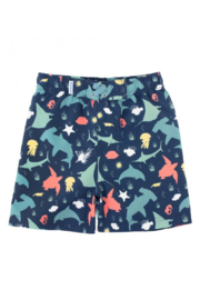 RuffleButts Swim Trunks - Front cropped