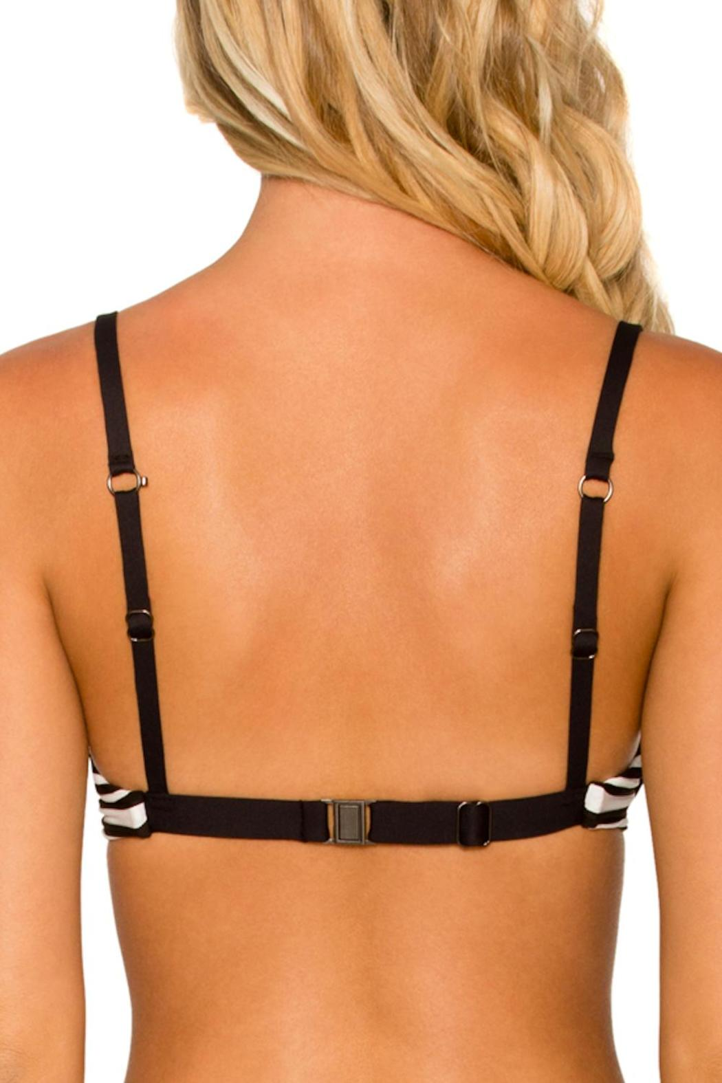 SWIM SYSTEMS Silver-Lining Underwire Top - Back Cropped Image