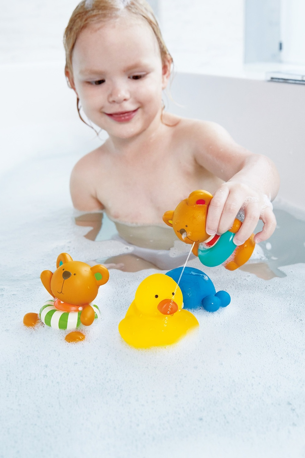 Hape Swimmer Teddy Wind-Up Toy - Front Full Image
