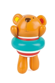 Hape Swimmer Teddy Wind-Up Toy - Front cropped