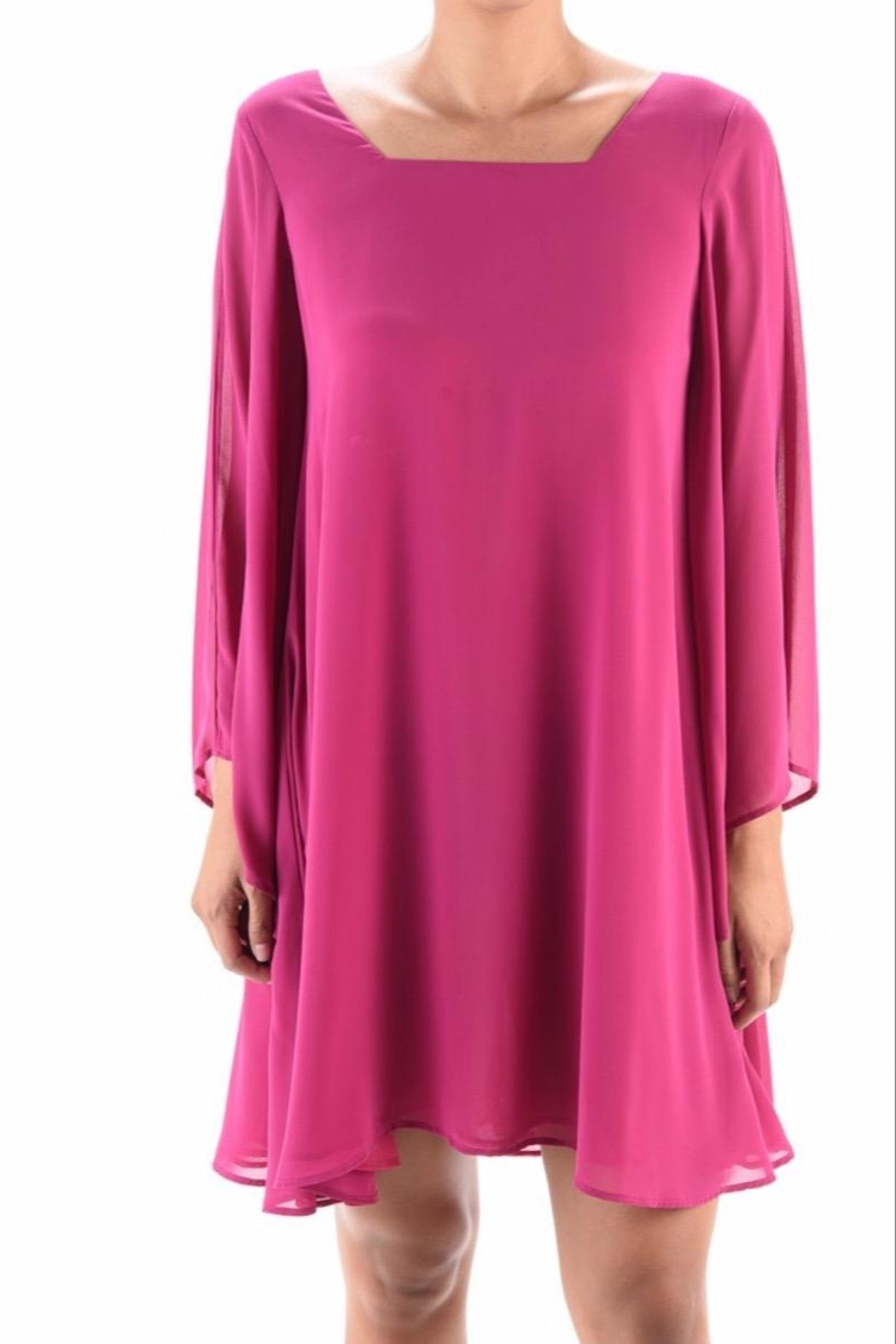 Aryeh Bell-Sleeve Swing Dress - Front Full Image