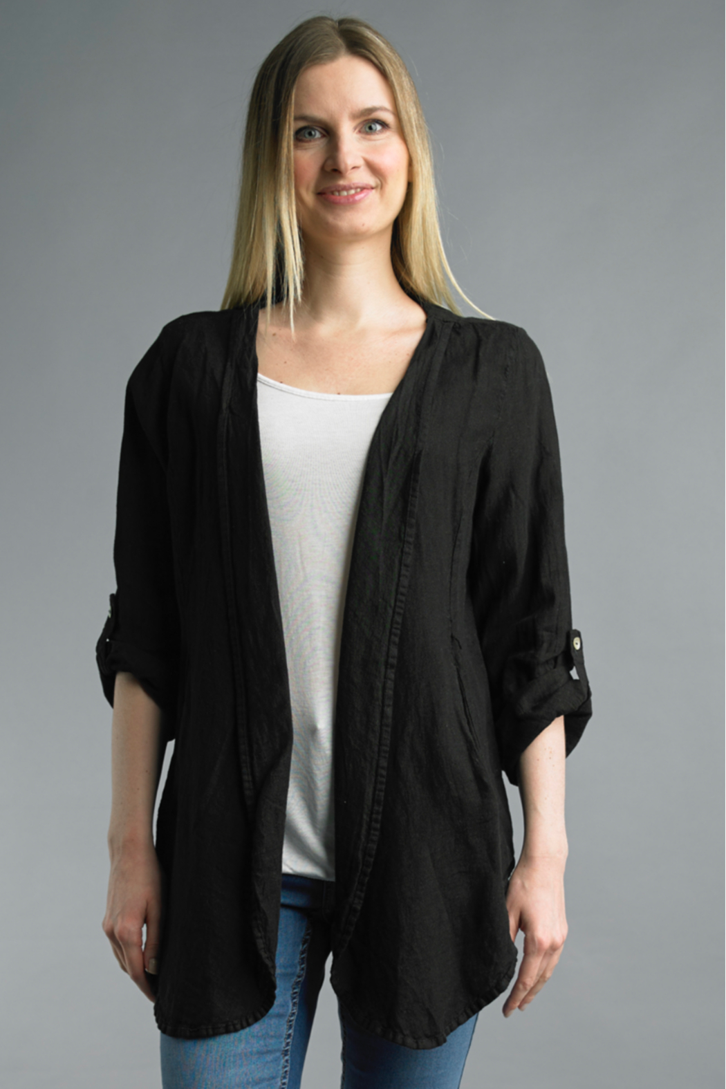 Tempo Paris  Swing Jacket - Front Cropped Image