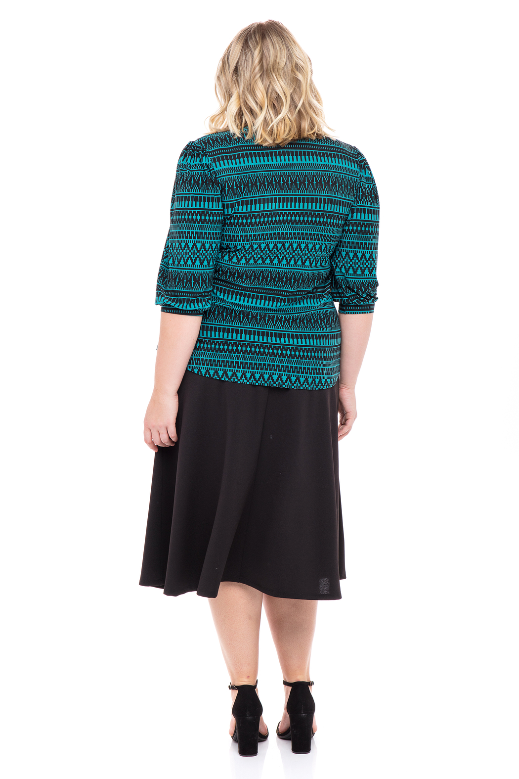 VKY & CO Swing Top V-Neck - Side Cropped Image