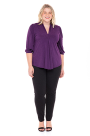 VKY & CO Swing Top V-Neck - Front cropped