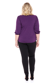 VKY & CO Swing Top V-Neck - Side cropped