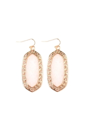 Riah Fashion Swirl-Edge Natural-Stone Drop-Earrings - Product Mini Image