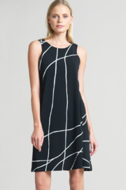 Clara Sunwoo Swirl Lines Jewel-Neck Dress - Product Mini Image