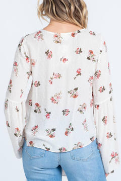 Everly Swiss Dot Floral Top - Alternate List Image