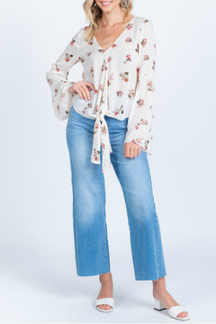Everly Swiss Dot Floral Top - Product List Image
