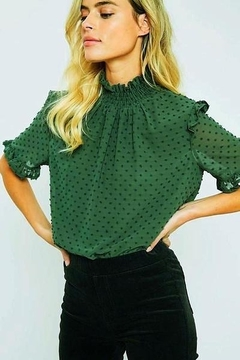 Wishlist Swiss Dot Smocked Top - Product List Image
