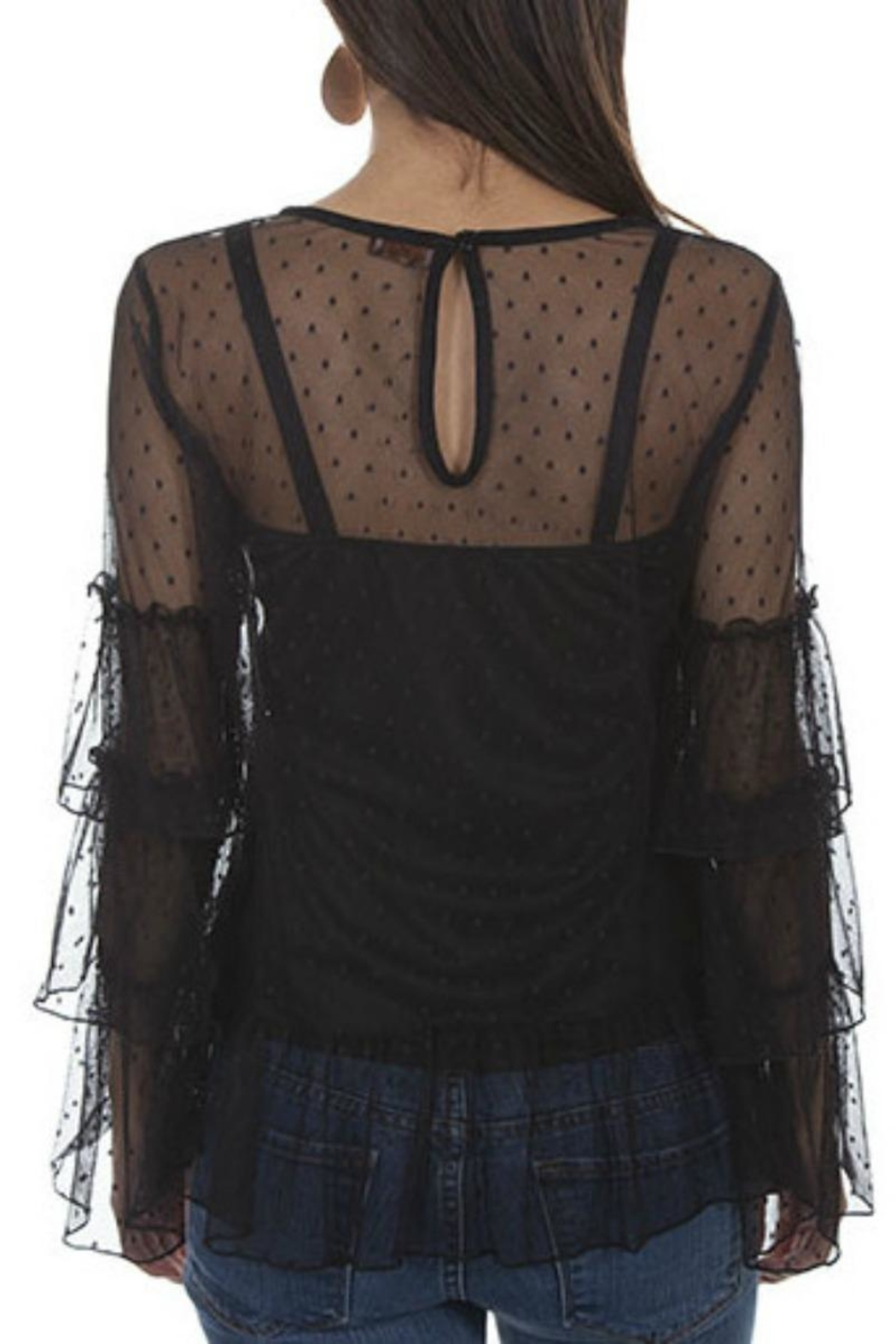Scully Swiss-Dot Two-Piece Top - Front Full Image