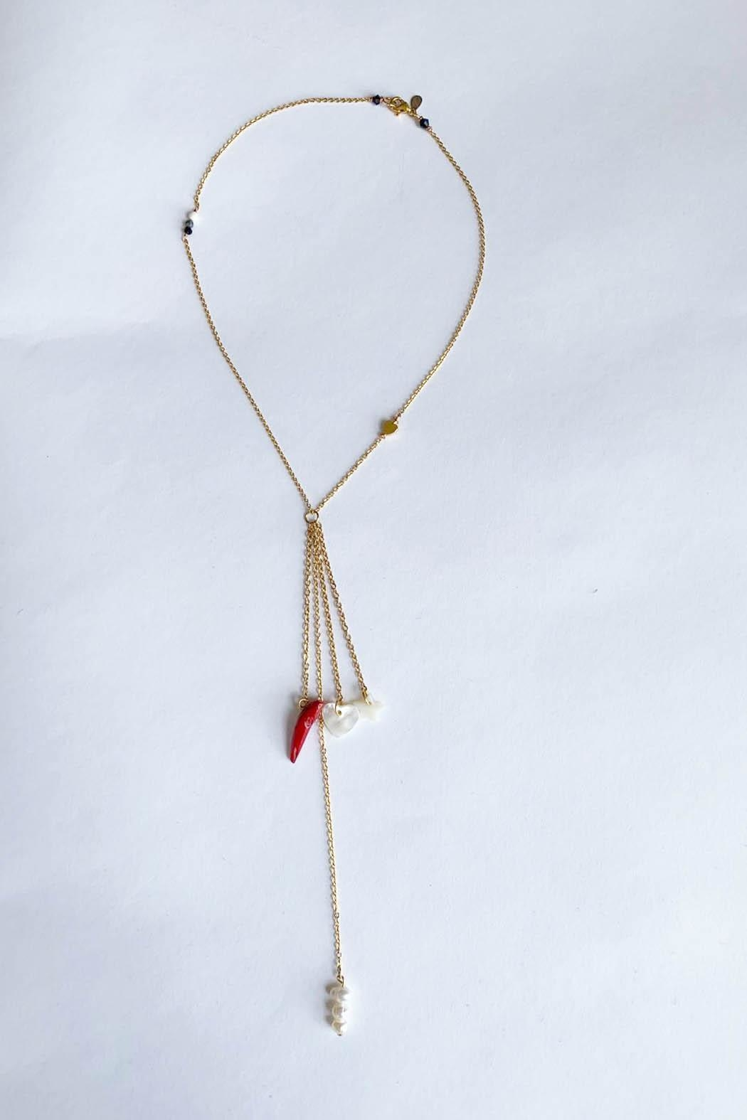 Aioty Sydney Necklace Pearls - Front Full Image