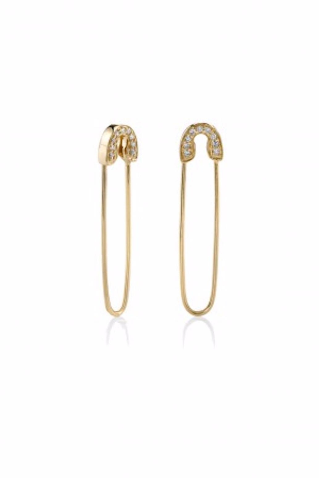 Sydney Evan Safety Pin Earrings - Main Image
