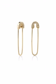 Sydney Evan Safety Pin Earrings - Front cropped