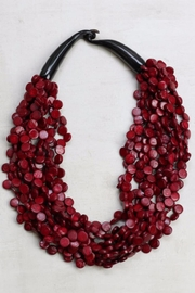 Sylca Multistrand Wood Necklace - Front cropped
